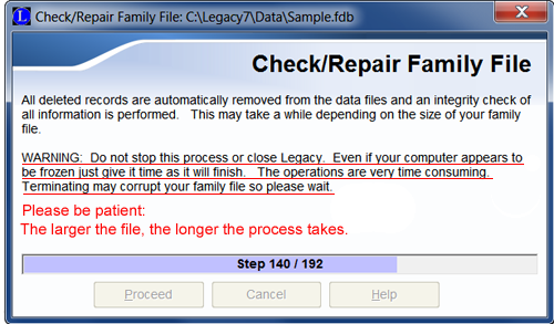 How to Check/Repair your family file | Legacy Family Tree